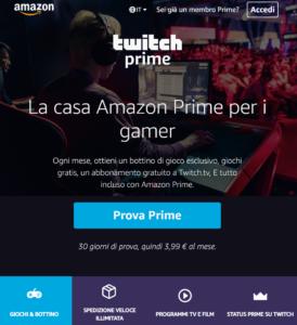 Twitch Prime e Amazon Prime 1