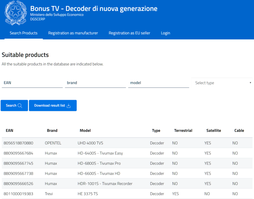 bonus tv 2020 dispositivi compatibili