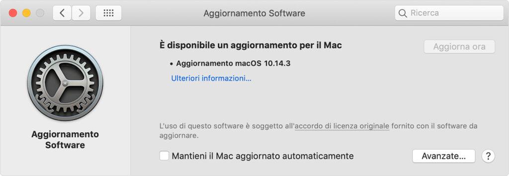 come aggiornare app store su mac