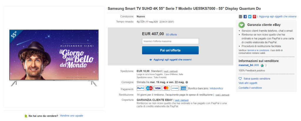 ebay asta offerta
