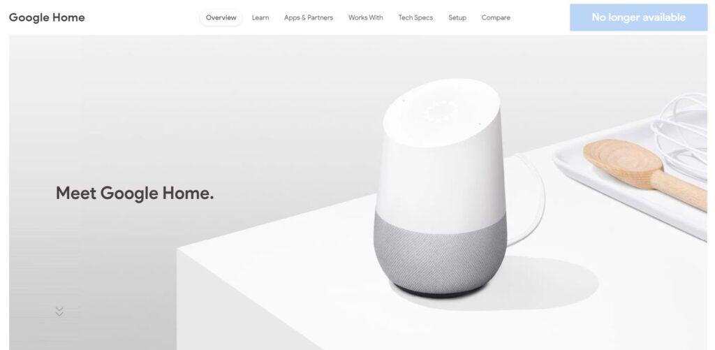 google home store usa non disponibile