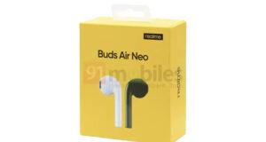 realme buds air neo specifiche design confezione leak