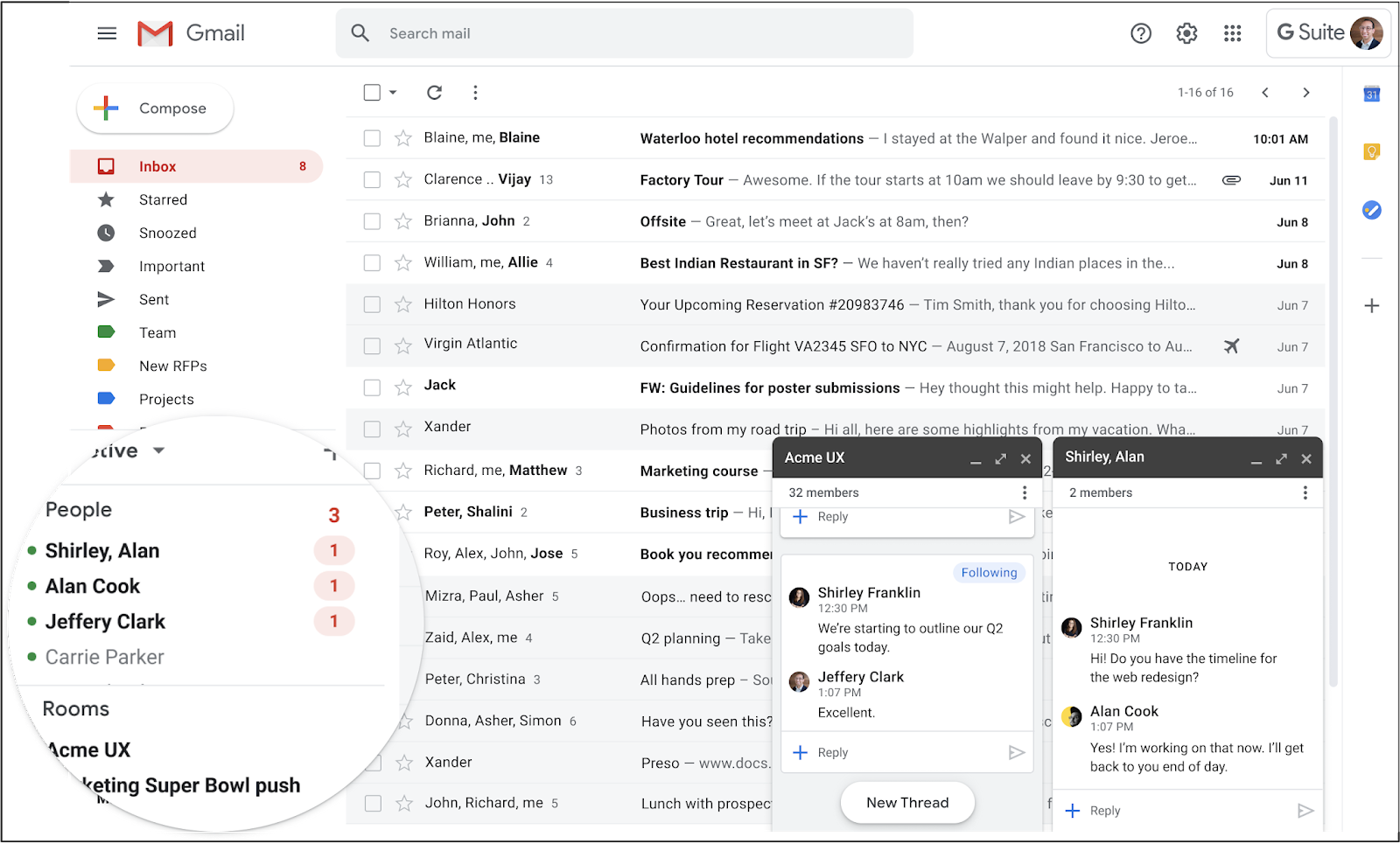 Google Chat in Gmail