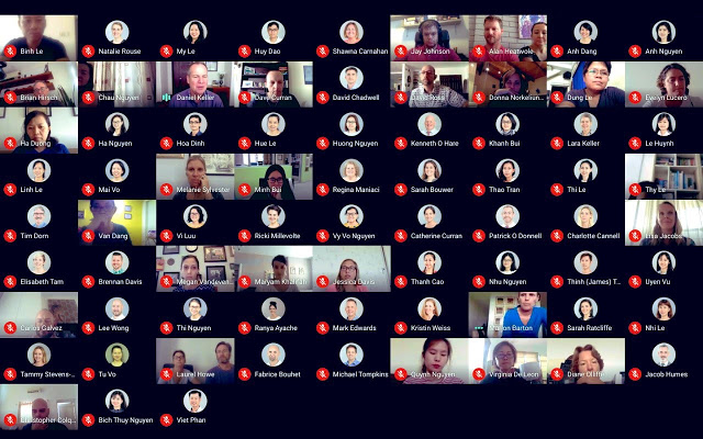 Google Meet Grid View estensione Chrome