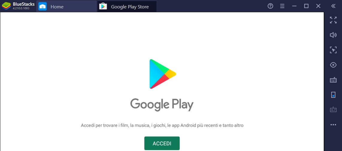 BlueStacks Google Play Store