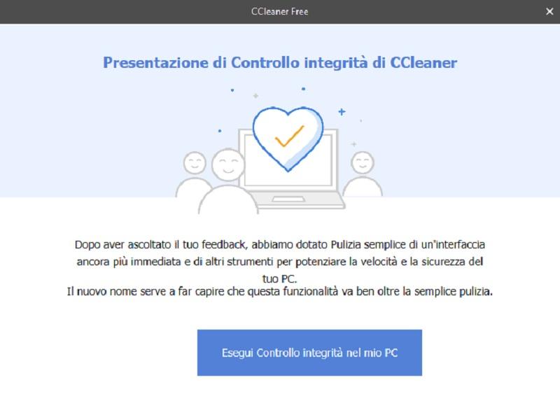 CCleaner Controllo integrità