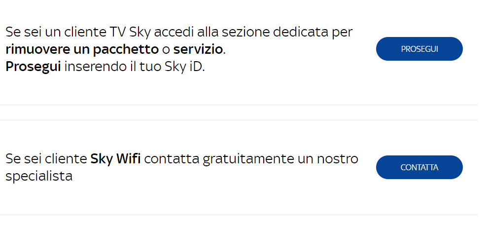 Come disdire l'abbonamento Sky Go Plus email