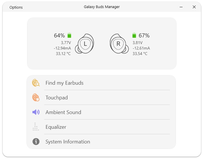galaxy buds manager app disponibile