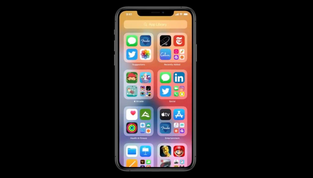 homescreen ios 14 app library