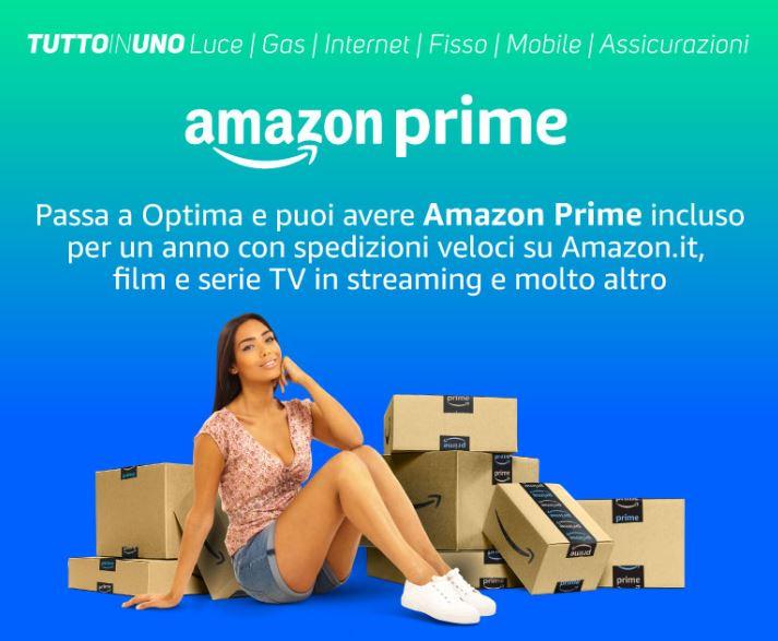 """""""Tutto in Uno"""" di Optima Italia offre tutti i vantaggi di Amazon Prime"""