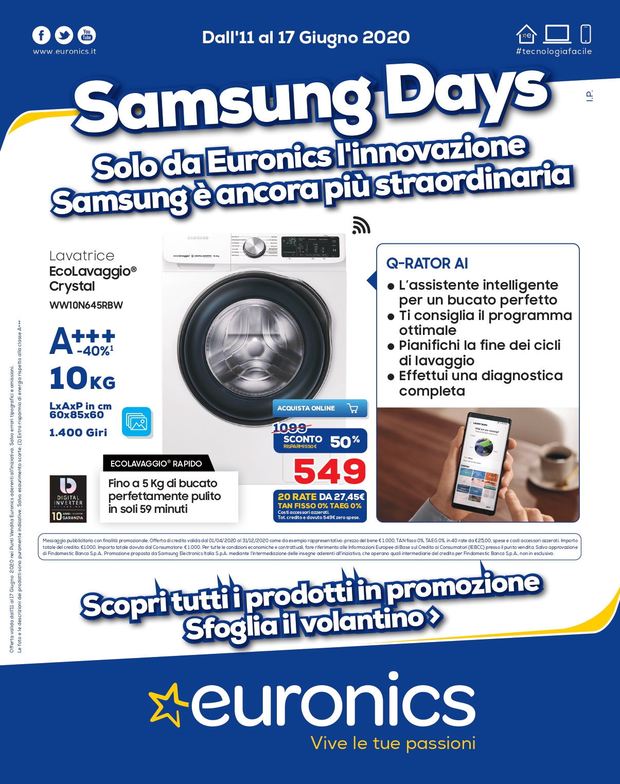 euronics offerte samsung days