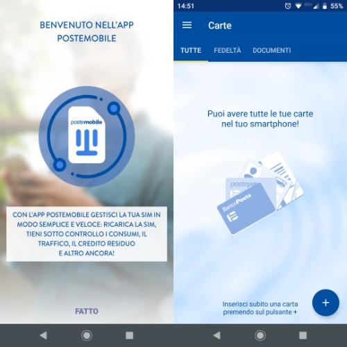 Ricaricare PostePay da app PosteMobile