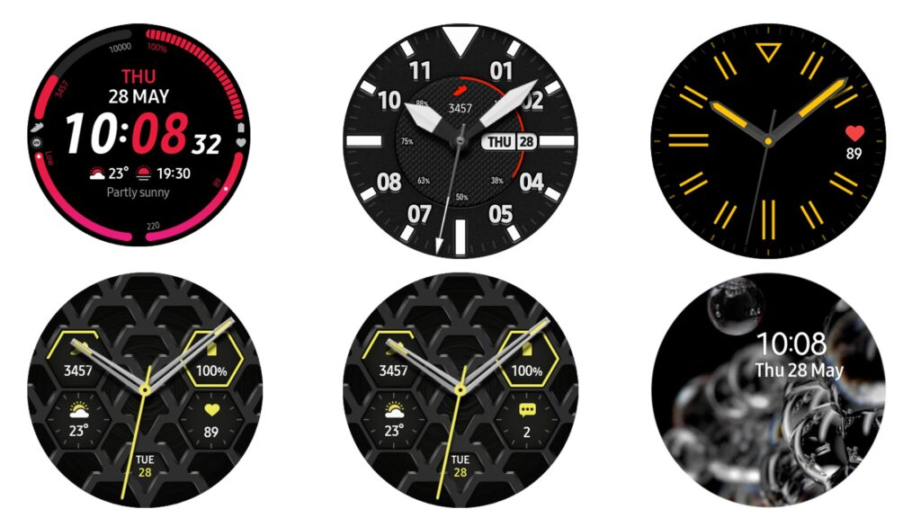 samsung galaxy watch 3 feature watch face icone leak