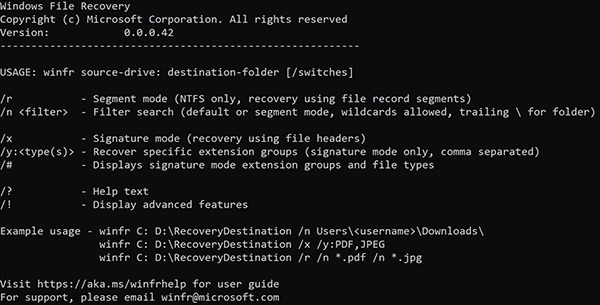windows file recovery download