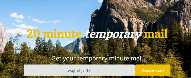20minutemail email temporanea