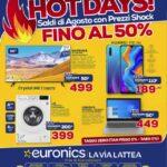 """Euronics lancia i suoi """"Hot Days"""": ecco il volantino valido fino al 12 agosto 1"""