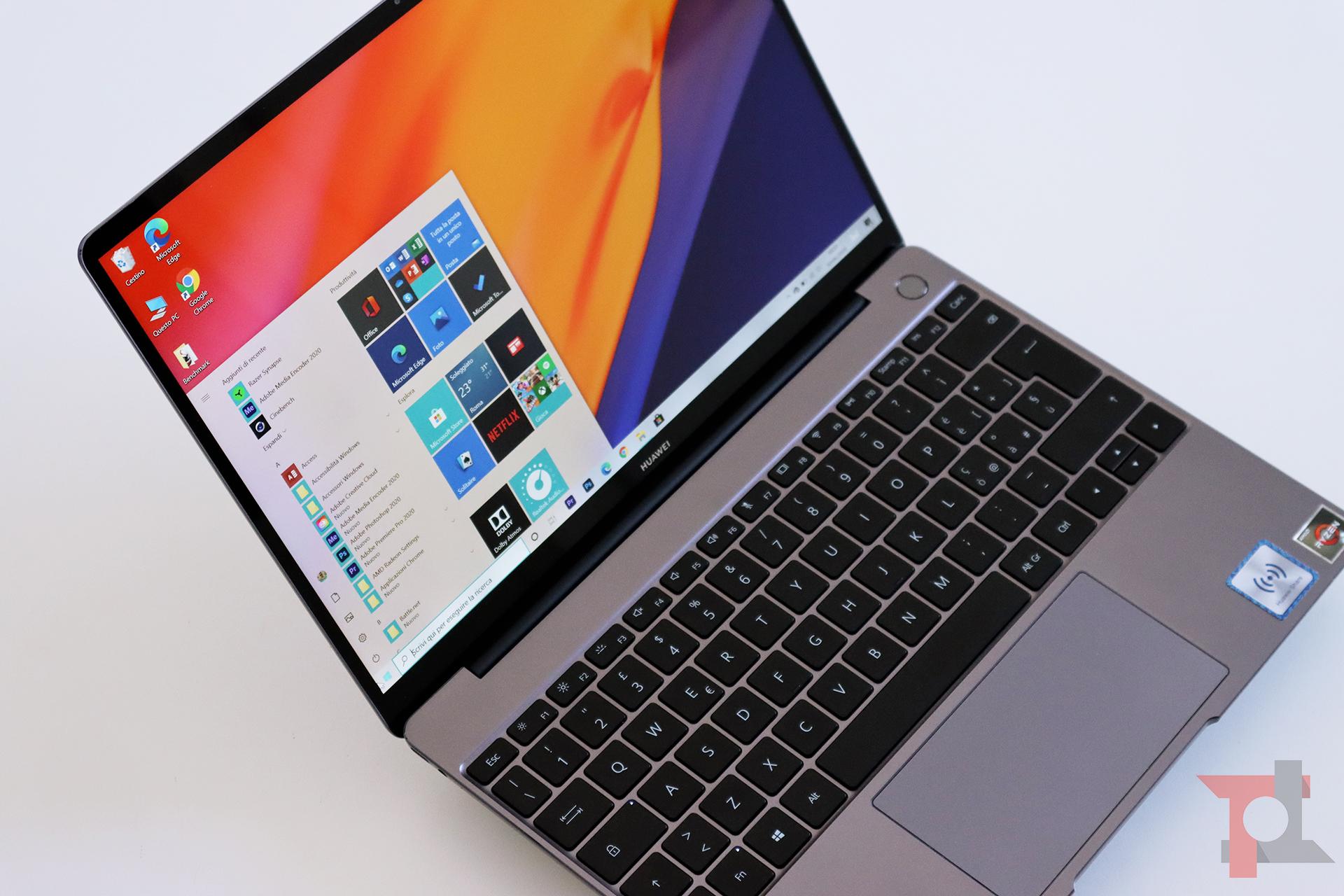 Huawei Matebook 13 2020 prestazioni