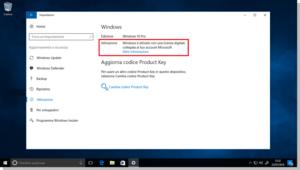 Attivare Windows 10 Licenza digitale
