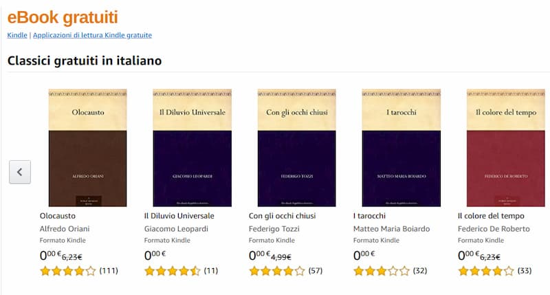Scaricare eBook gratis da Amazon Kindle