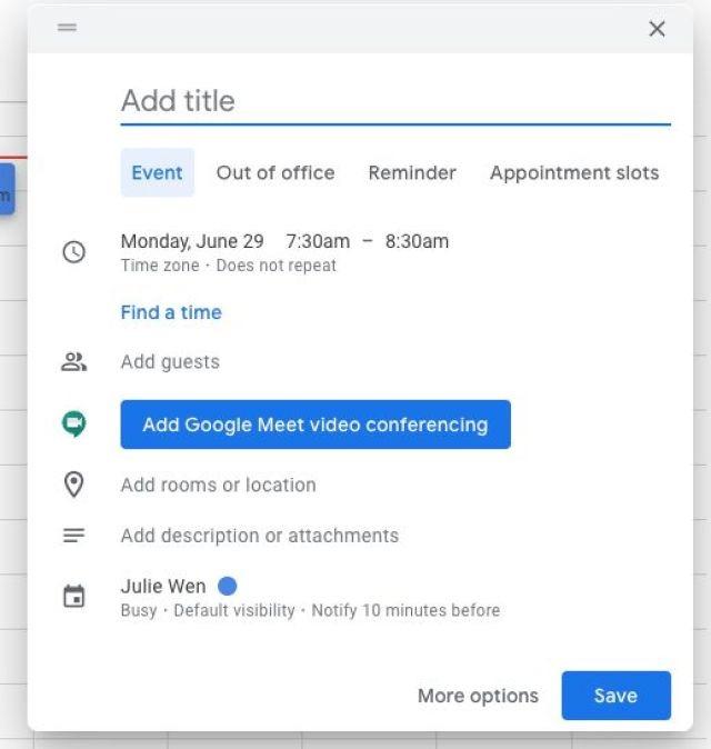 Google Calendar semplifica l'aggiunta di informazioni aggiuntive sul web 1
