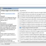 GPedit bloccare aggiornamenti windows