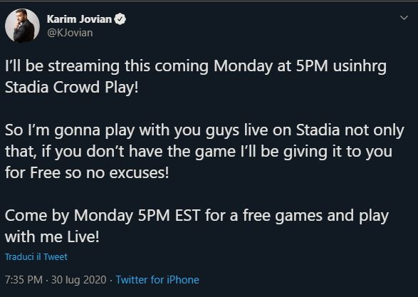 google stadia crowd play streaming youtube test