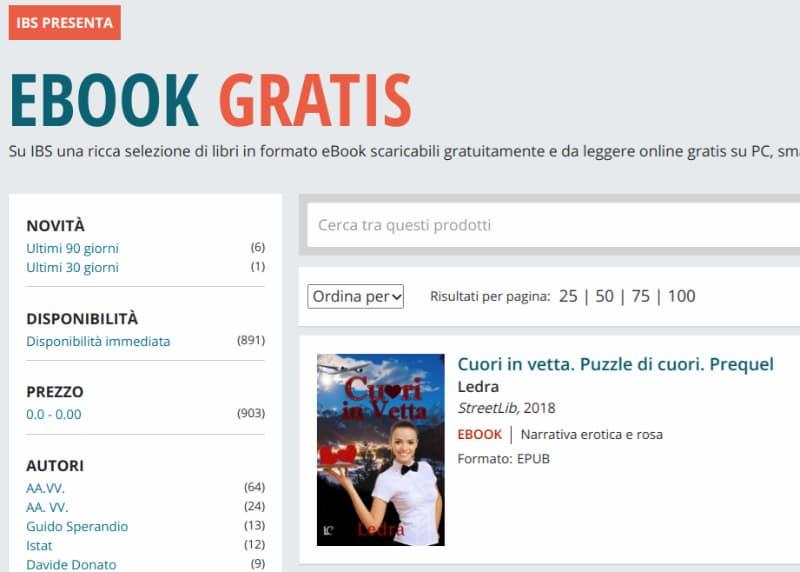 Scaricare eBook gratis da IBS