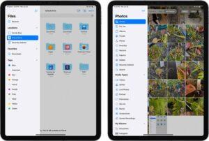 iPadOS 14 sidebar