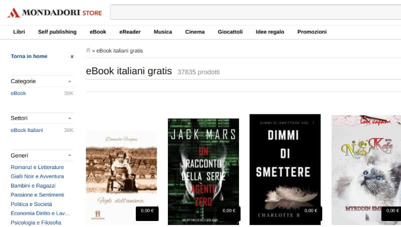 Scaricare eBook gratis da Mondadori Store