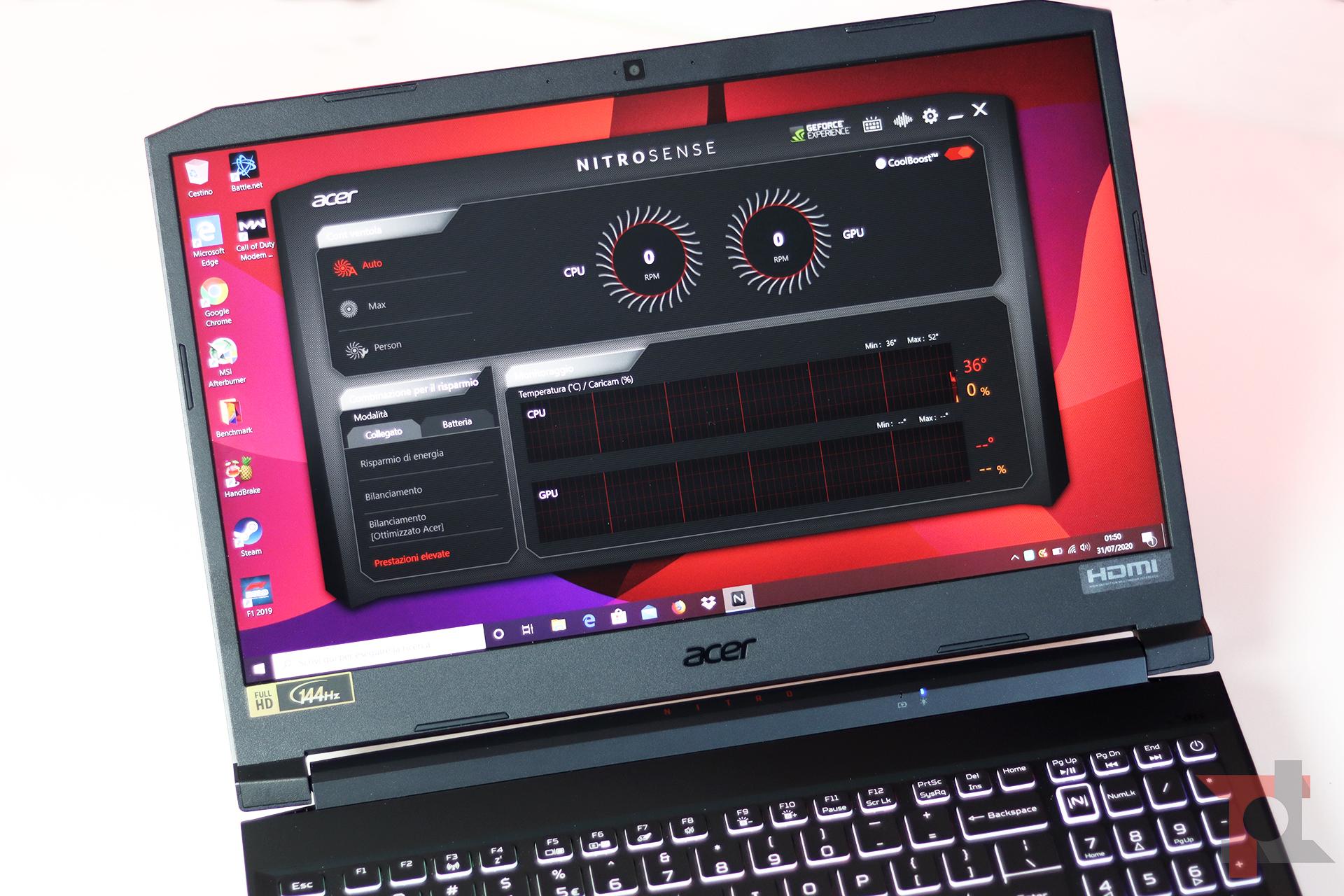 Acer nitro 5 2020 software