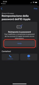 password apple supporto