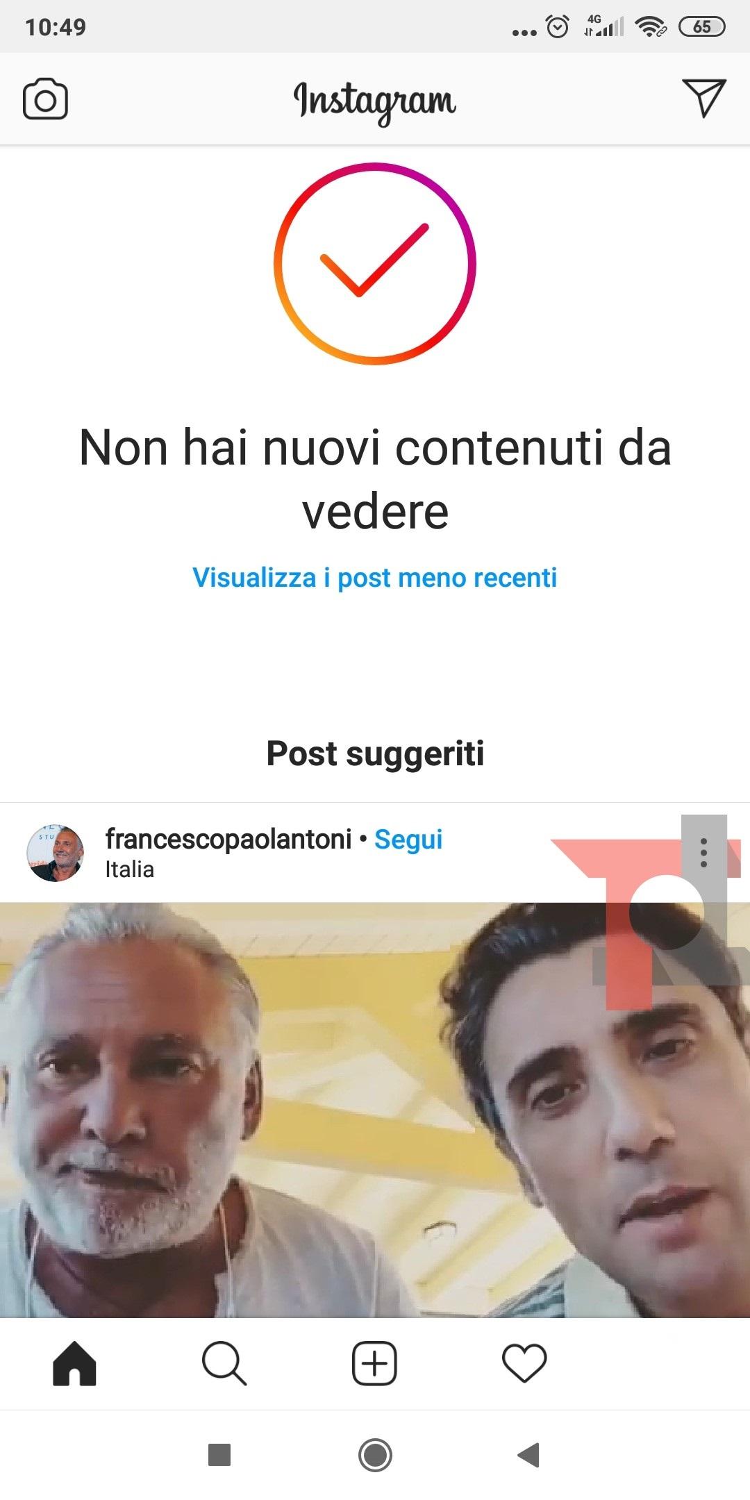 Instagram aggiunge i post suggeriti alla fine del feed 1