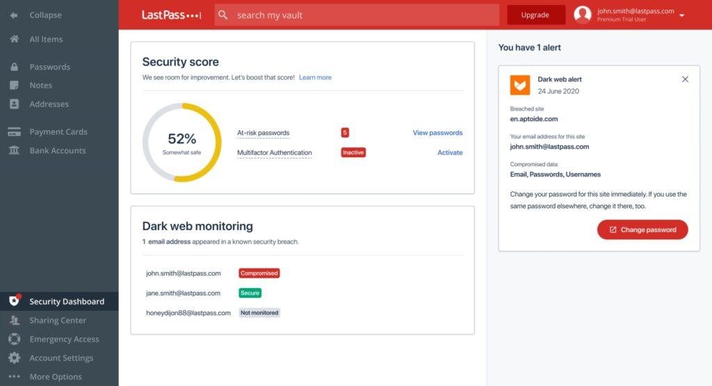 lastpass password compromesse controllo