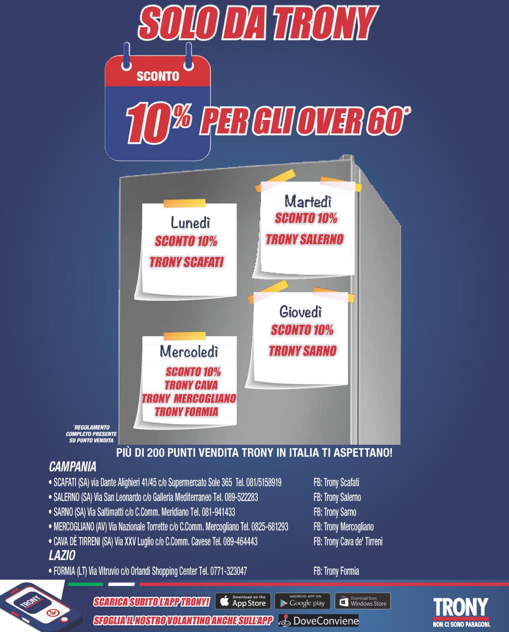 """""""Riparti alla grande"""" con le offerte Trony fino al 9 settembre 1"""
