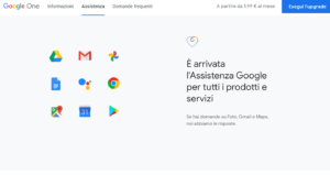 password gmail google one assistenza
