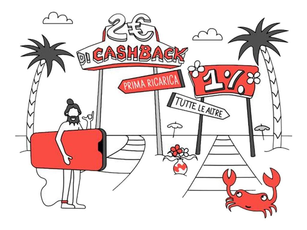 satispay cashback ricariche telefoniche agosto