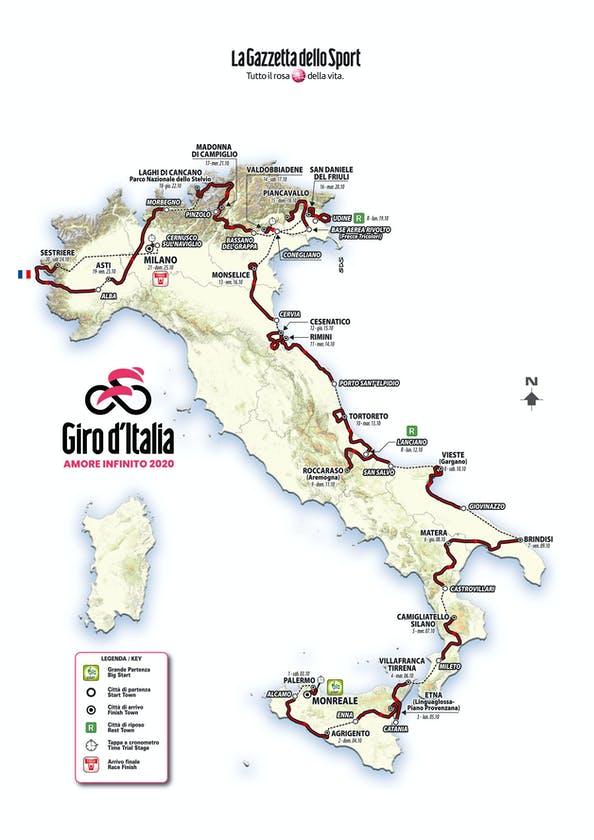 Il Giro d'Italia 2020 sarà in chiaro su Rai2 HD, Rai Sport+ HD e RaiPlay 1