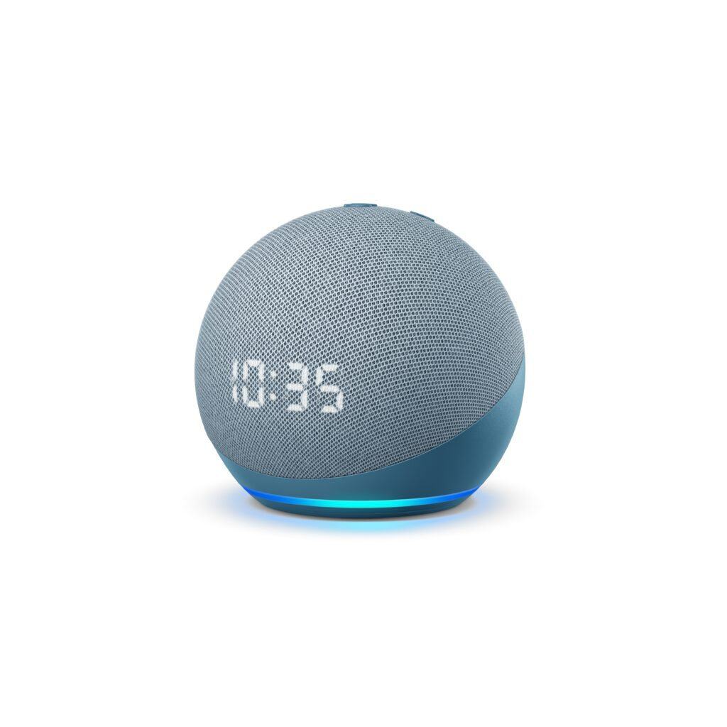 Amazon Echo Dot con orologio