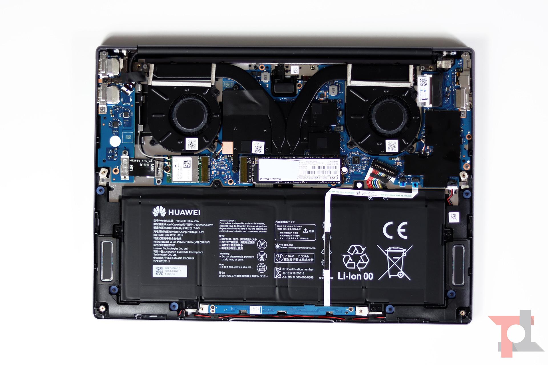 Huawei Matebook 14 AMD interno