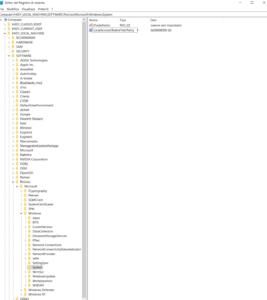 errore 0x80004005 registro di sistema