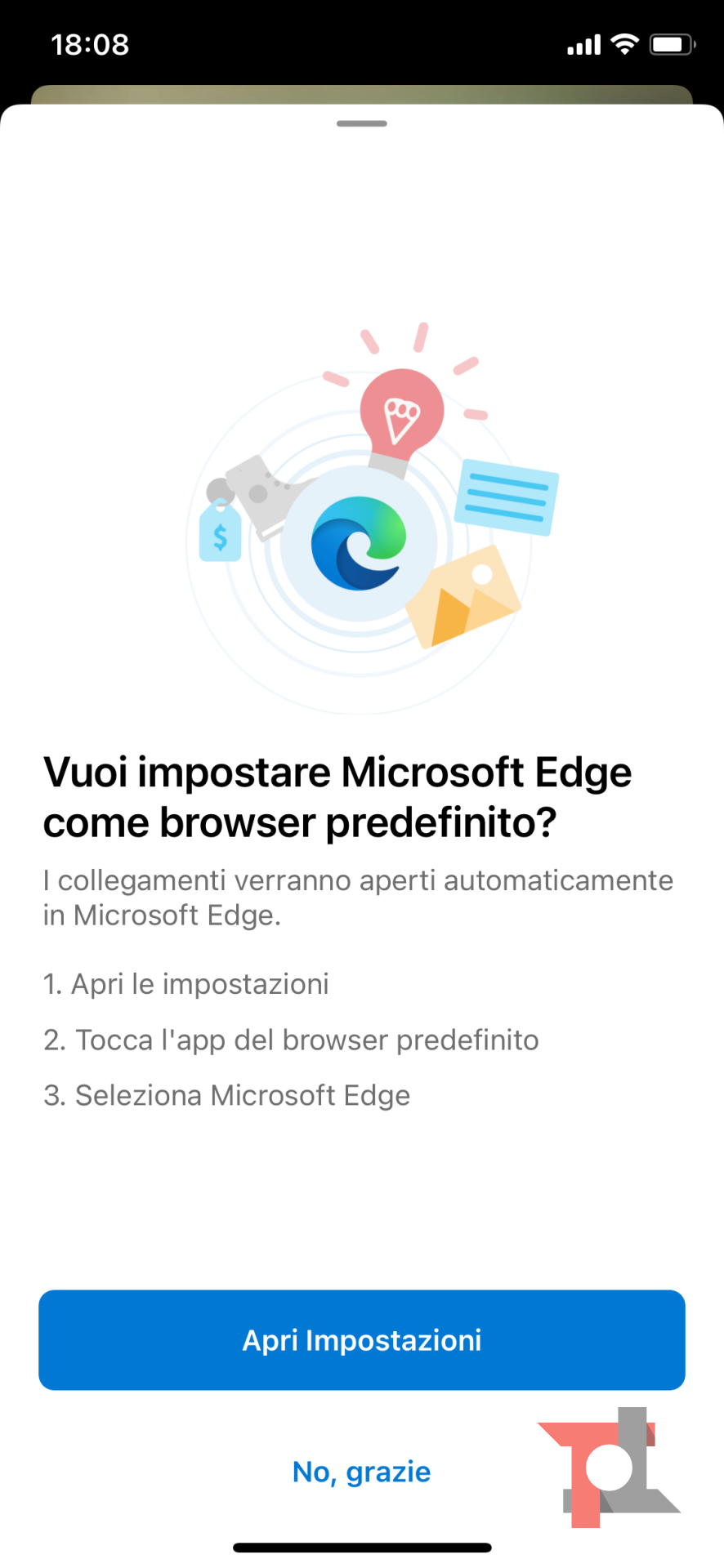 Come rendere predefiniti Microsoft Edge e Outlook su iOS 14 1