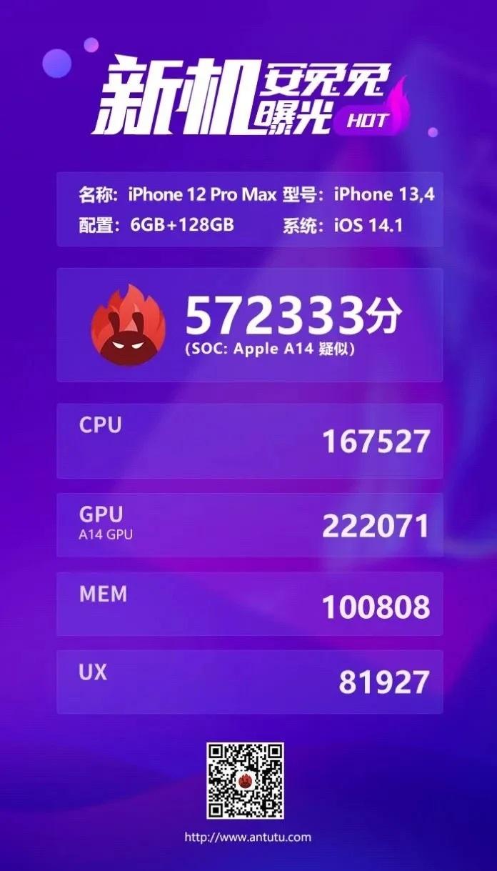 iPhone 12 Pro Max individuato su AnTuTu: ecco i numeri 1