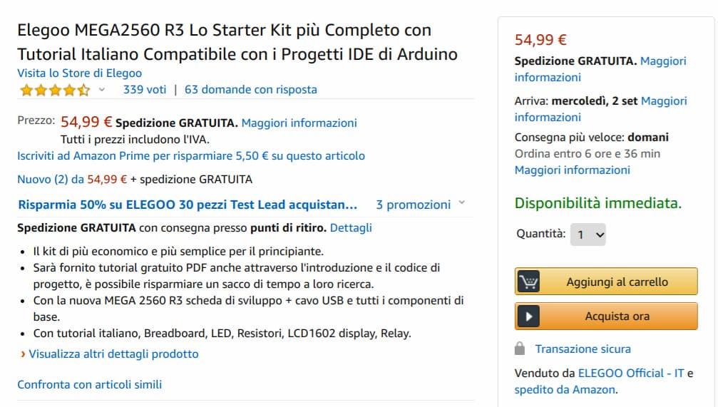 Sconti nascosti Amazon (utente Amazon Prime)