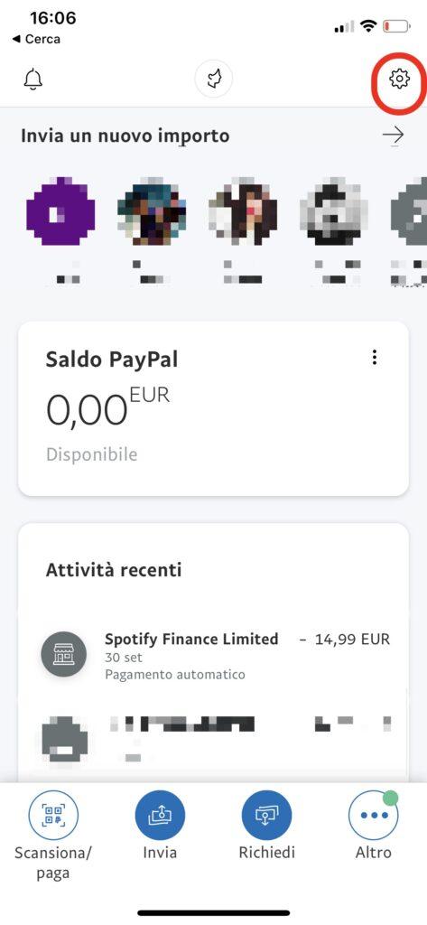 annullare pagamenti automatici paypal ios android