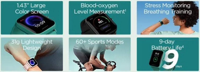 È in arrivo Amazfit Bip U, nuovo smartwatch economico di Huami: immagini e specifiche 1
