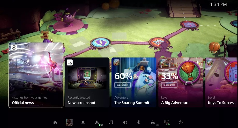 Sony svela la dashboard di Playstation 5: ecco immagini e video dell'interfaccia 2