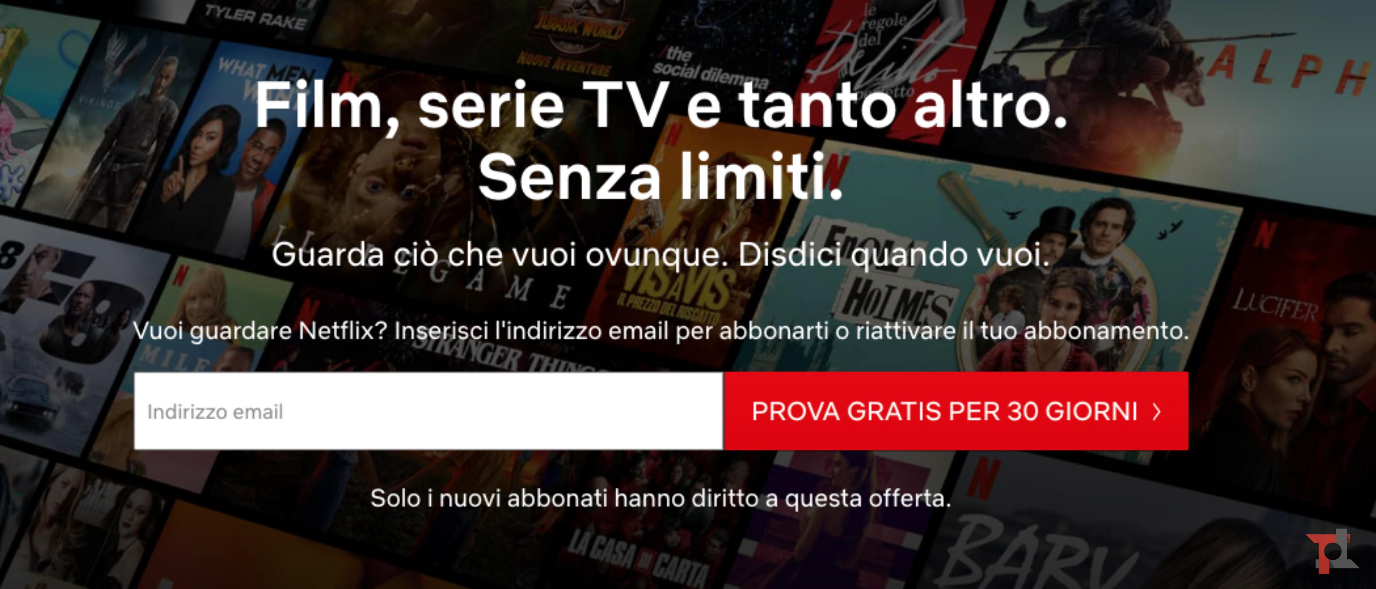 Netflix propone offerte vantaggiose ai nuovi iscritti 1