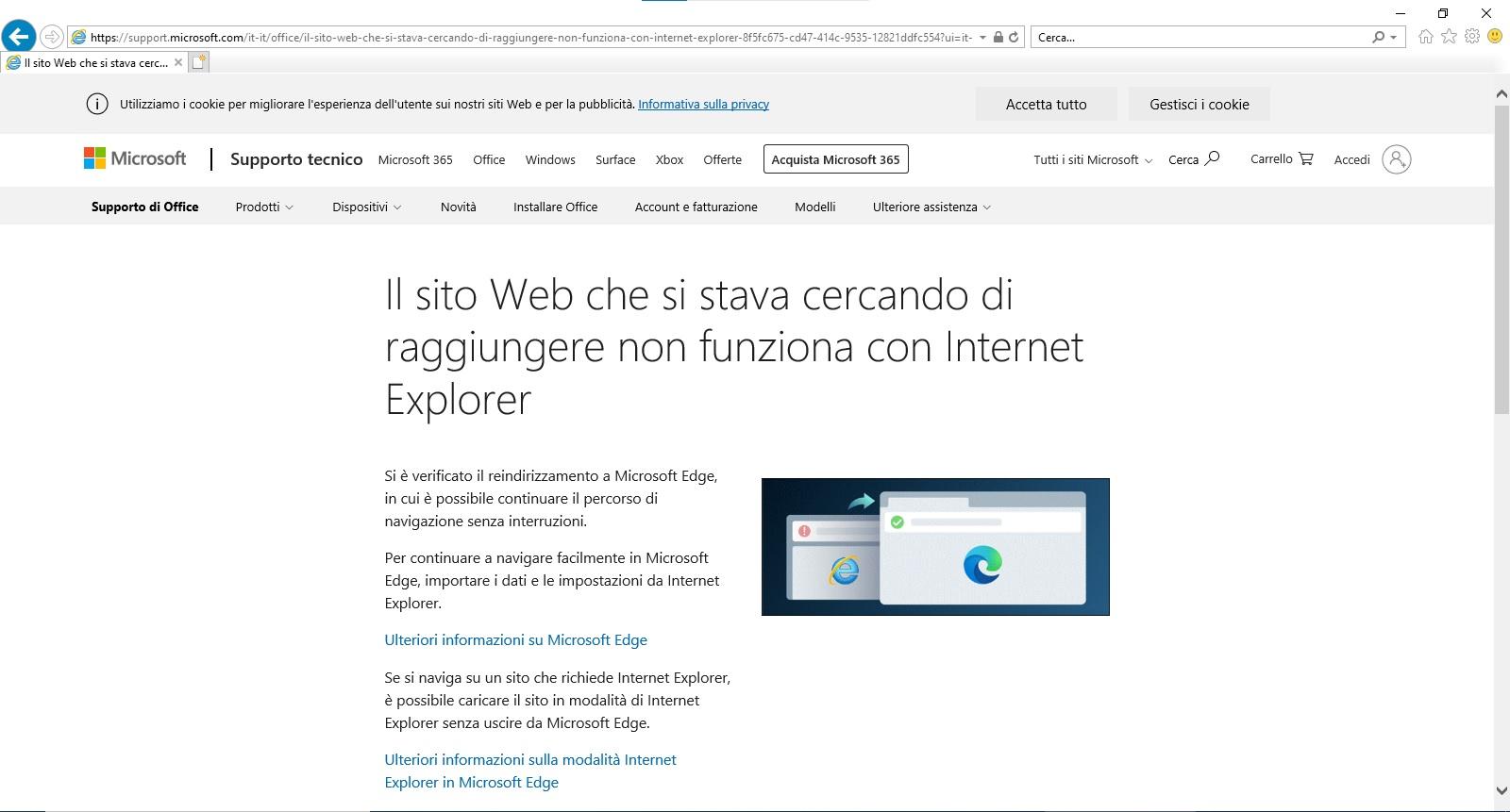 Internet Explorer spingerà gli utenti a utilizzare Microsoft Edge 1