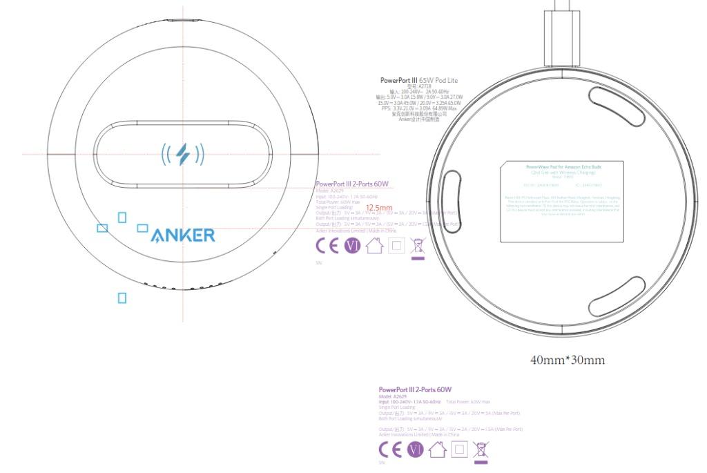 anker pad ricarica wireless amazon ech obuds seconda generazione