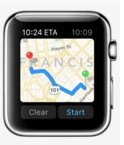 come usare Siri Apple Watch mappe